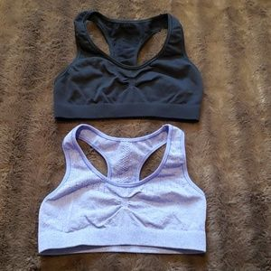 lot 2 crop cami sport bra ~ Champion ~ large 10-12 XL 14-16  turquoise blue